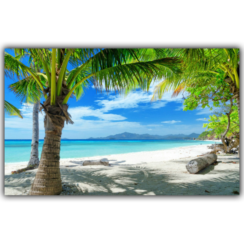 Tropical Beach Seaside Landscape Poster Art Silk Poster Home Decoration Picture Living Room Wallpaper