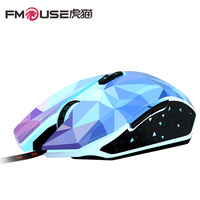 FMOUSE X8 Gaming Maus 2400 DPI Dazzle farbe Diamond Edition Verdrahtete Maus Gamer Optische Computermaus für Mac/PC/Notebook