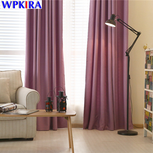 Solid Window Curtain Living Room Purple Cloth Curtain Bedroom Cortina Drapes  Window Treatments Blue Curtain Drapery