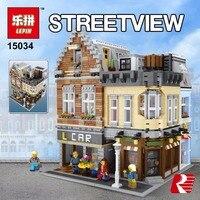 Лепин 15034 4210 шт. натуральная MOC серии legoingly здание город Набор строительных блоков кирпичи развивающие игрушки модель как мальчика подарки