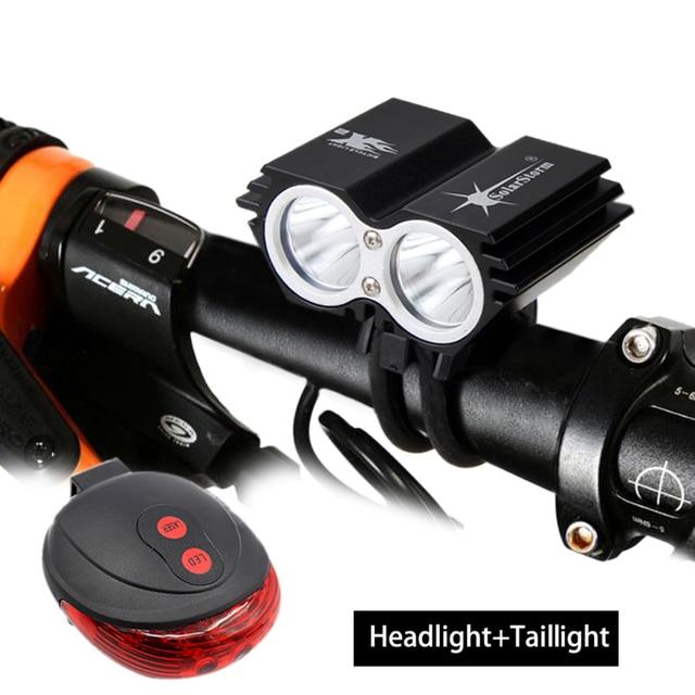 SolarStorm Aluminum Bicycle Headlamp 6000Lm 2x XM-L T6 LED Bike Light Battery Pack