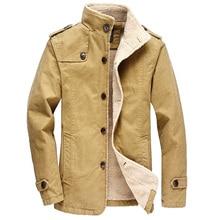 New 2017 Winter Jacket Men Outwear Coat Casual Solid Long Section Thicken Jacket Warm Overcoat Fleece Parka Coat Plus Size 6XL