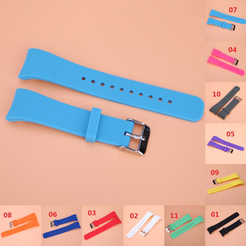 High Quality Candy Colors Silicone WatchBands Replacement Band Strap For Samsung Gear Fit 2 SM-R360 Watch Replacement WatchBand