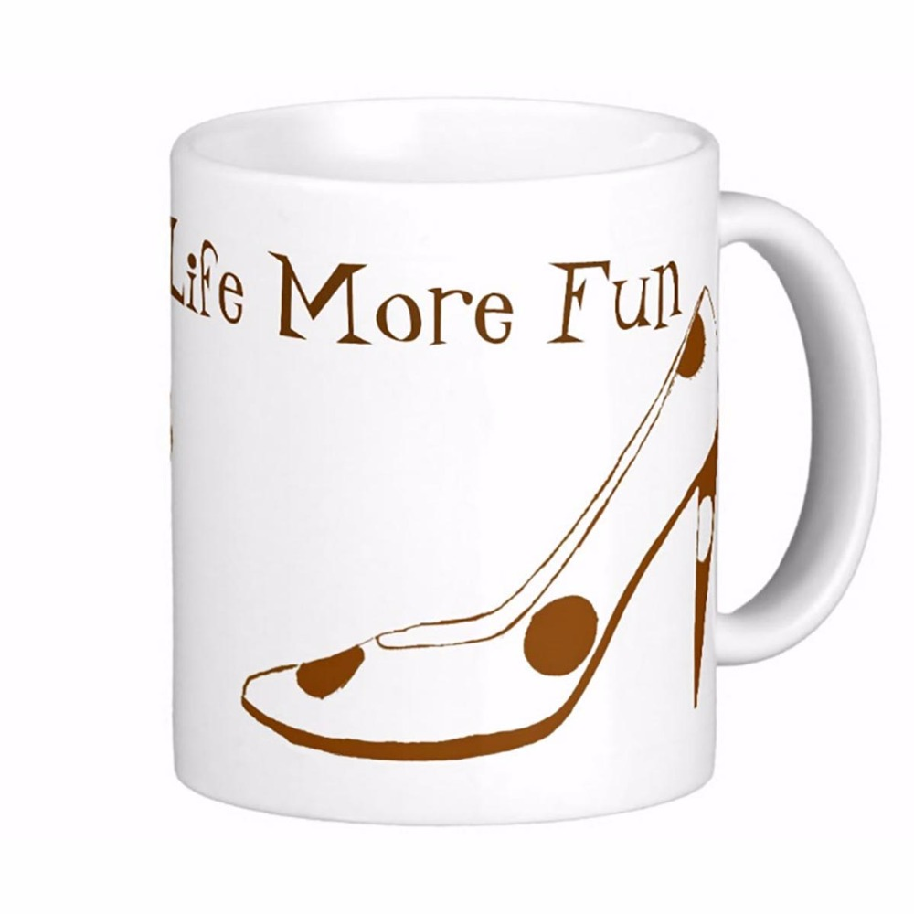 Women Who Love High <font><b>Heel</b></font> Shoes White Coffee Mugs Tea Mug Customize Gift By LVSURE Ceramic <font><b>Cup</b></font> Mug Travel Coffee Mugs