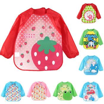 Śliczne zwierzęta kreskówkowe śliniaki dla dzieci wodoodporne kolorowe dziecięce śliniaki z pełnym rękawem fartuch dla dzieci śliniaki z długim rękawem tanie i dobre opinie Moda Cartoon BC007 Unisex 13-18 M 2-3Y 4-6 M 7-9 M 19-24 M 10-12 M 4-6Y Children Apron Long Sleeve Feeding Bibs Kid Baby Cloth Stuff