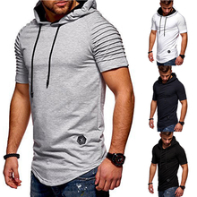 Newest Fashion Style Men Short Sleeve Hooded Sweatshirt Summer Hoodie Shirt Pullovers Hip Hop Tracksuit