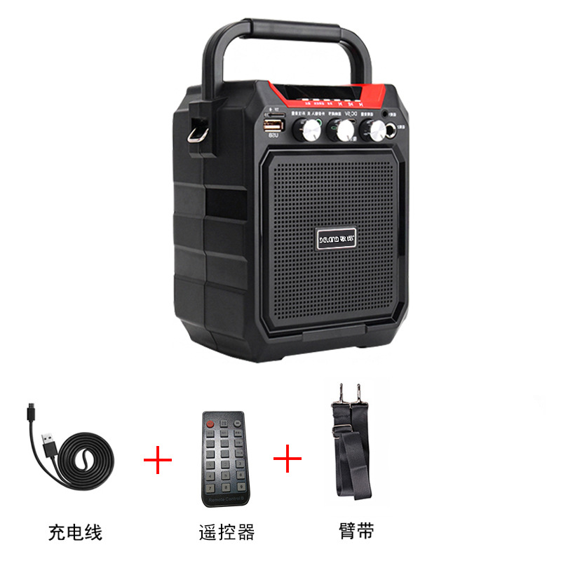 S15 Big Power Portable Wireless Bluetooth Audio Stereo Subwoofer K Song Speaker Outdoor Square Dance Bass Player Music Player image