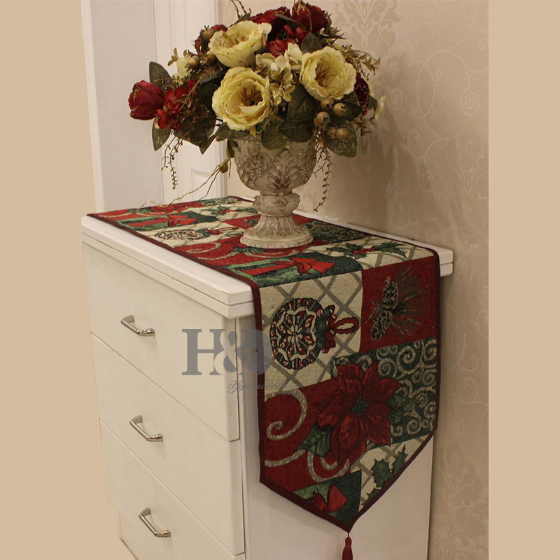 European Christmas Style Table Runner Wedding Bed Table Cloth TV Cabinet Cloths Cover Cup Mat Dining Mat Placemat Home Textile