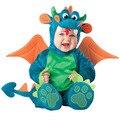 INS Bebé Traje Animal de la Historieta Niños Niñas Dragón León Mono Mameluco Niños de Halloween Ropa Cosplay Personaje de Regalo