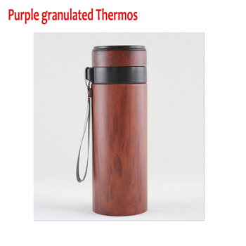 Ecological health violet arenaceous Granulated Mugs Vacuum Cup purple Clay Thermos Purple sands cup,purple granulated