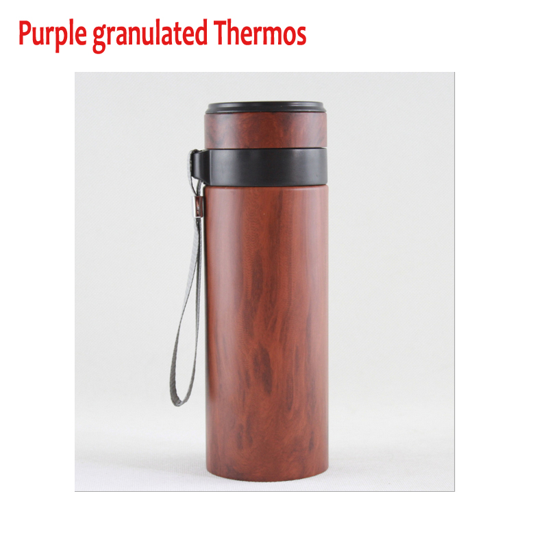 Ecological health violet arenaceous Granulated Mugs Vacuum Cup purple Clay Thermos Purple sands cup,purple granulated Mugs