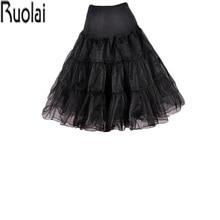 Новое поступление, пышная трапециевидная черная юбка до колена с оборками, Нижняя юбка из кринолина, аксессуары для свадебного платья