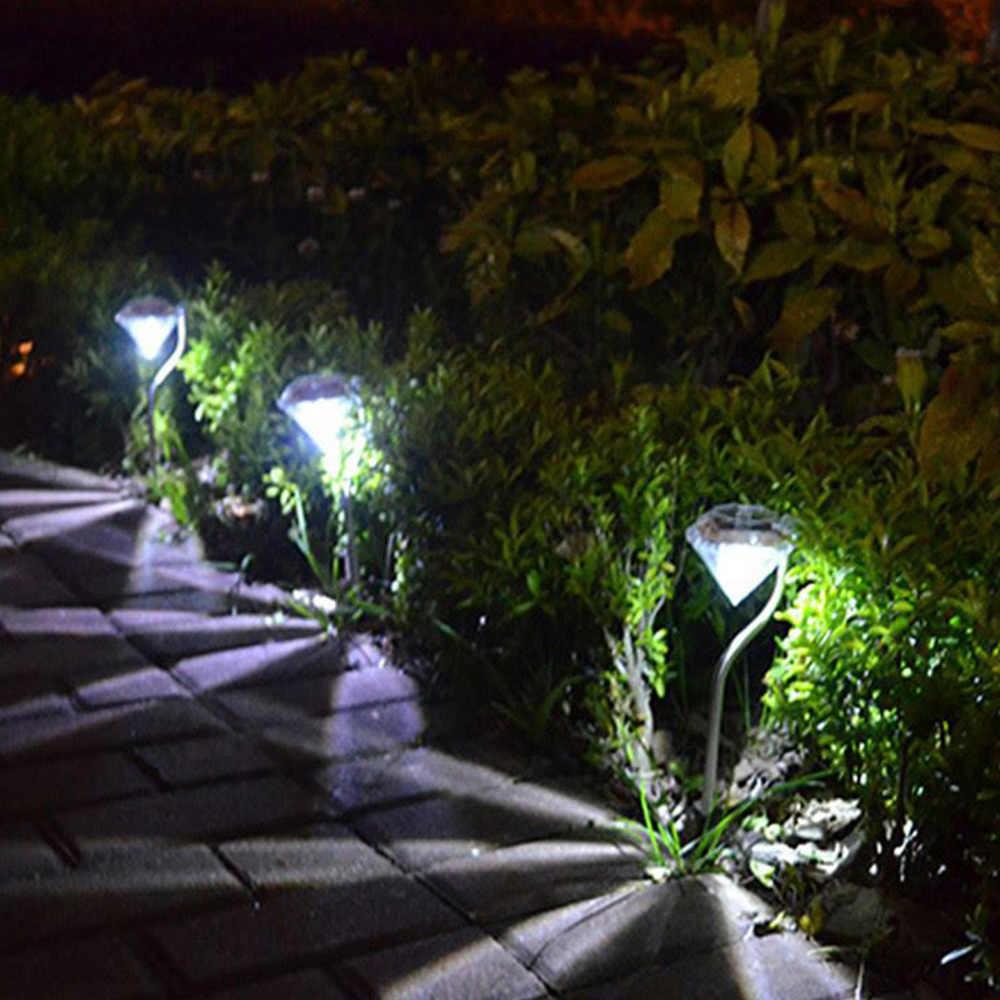 Солнечный свет лужайки Открытый декоративный сад светодиодный свет RGB Алмазный Двор Пейзаж лампы освещения пути Водонепроницаемый