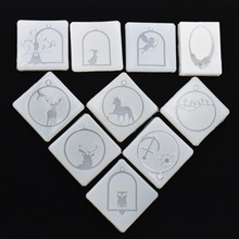 SNASAN 10PCS Silicone Mold for jewelry frame animals pendant Resin Mould  handmade epoxy resin molds MuJu-diaozhui-004