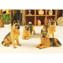 Cute German Shepherd Dog artificial figure,car styling room decoration,Christmas gift toy hound wolf dog,DIY party decoration