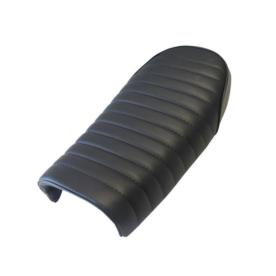 XYIVYG Black Cushion Flat Brat Tracker Seat Saddle For Honda CB CL Cafe Racer Retro