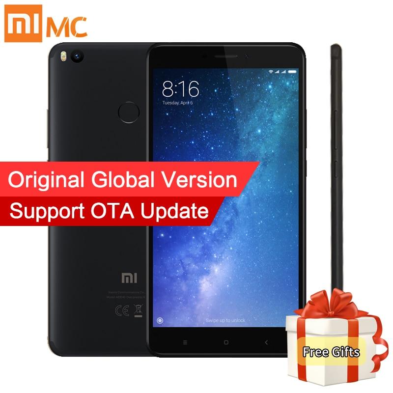 Глобальная версия Xiaomi Mi Max 2 Max2 мобильный телефон 4 ГБ 64 ГБ Snapdragon 625 Octa Core 6,44 1080 P 5300 мАч QC 3,0 12.0MP Andriod 7,1