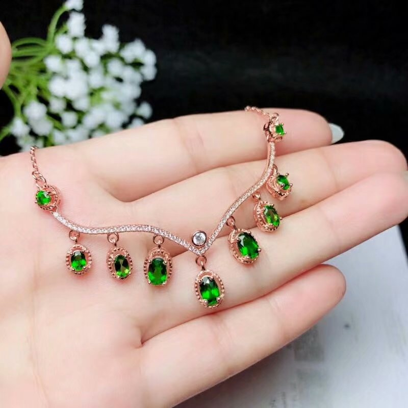 shilovem 925 sterling silver Natural diopside pendants fine Jewelry plant women trendy wedding open wholesale blp0304354601agt shilovem 925 sterling silver natural tourmaline ring pendants earrings fine jewelry women trendy wedding open wholesale ltz3501