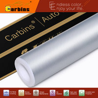 3D carbon fiber vinyl wrap for cars New texture silver color high quality carbon wraps free shipping