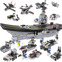 751PCS/Set Military Ship Liaoning Aircrafted Carrier 3D blocks Educational model 8 in 1 building toys compatible with Legoed