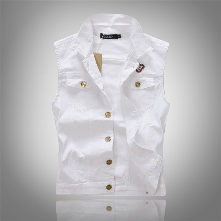 Online Buy Wholesale white denim vest from China white denim vest ...