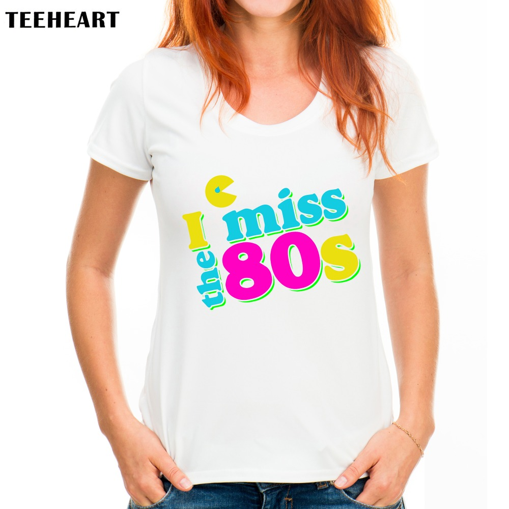 buy teeheart women fashion 80s vintage design t shirt novelty tops lady custom. Black Bedroom Furniture Sets. Home Design Ideas
