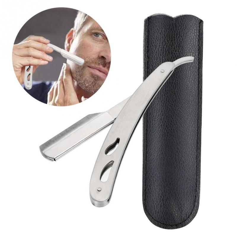 Straight Edge Barber Razor Professional Safety Folding  Stainless Steel Salon Shaving Blades Shave Knife Shaving Machines Gift