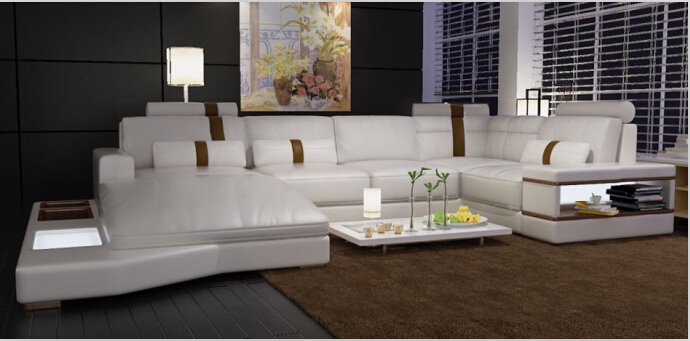 Modern Corner Sofas And Leather For Sofa Set Living Room Furniture With Large In From On Aliexpress
