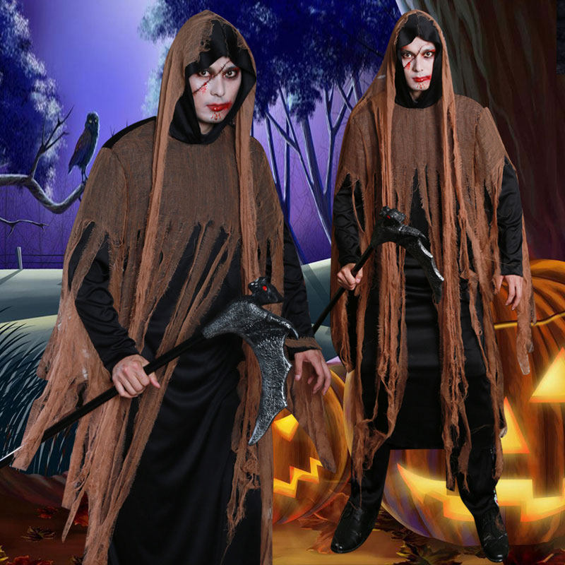 Halloween role play cosplay men's stage show vampire costume adults dress up demons nightmares zombie robes Horror Clothing