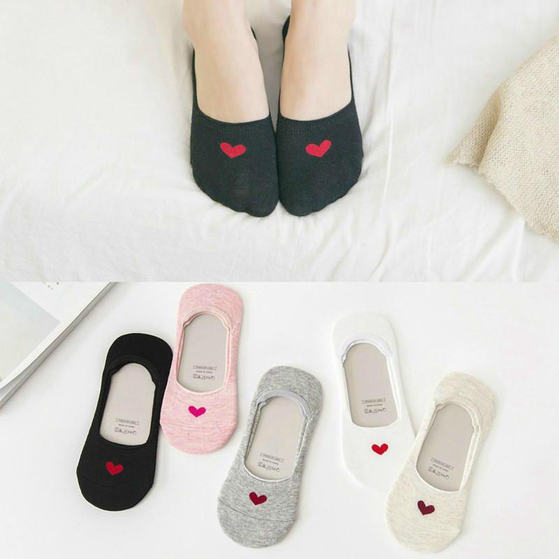Gut Ausgebildete 5 Pairs Sommer Flach Socken Kurze Socken Frauen Nicht-slip Herz Form Baumwolle Socken Seien Sie Im Design Neu gelegentliche Farbe