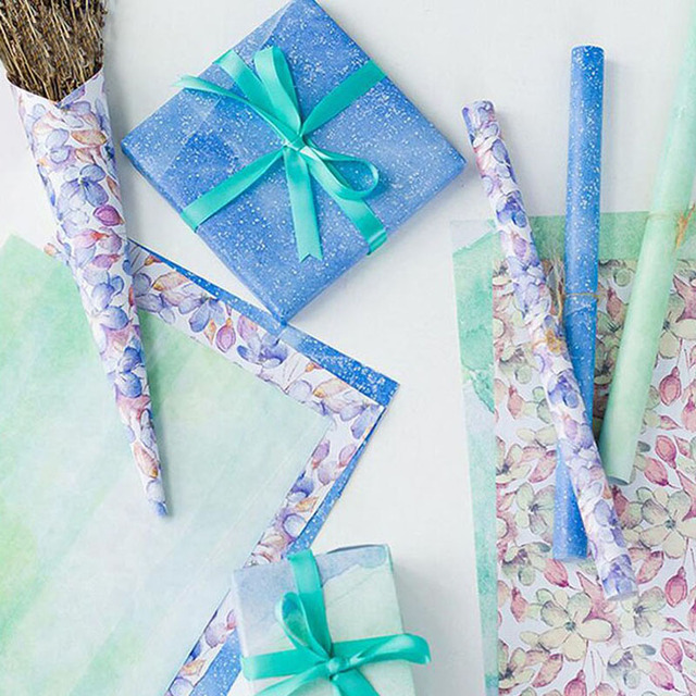 5070cm Pastorale Design Flower Printing Wrapping Tissue Paper Wedding Gift Clothing Wrap DIY