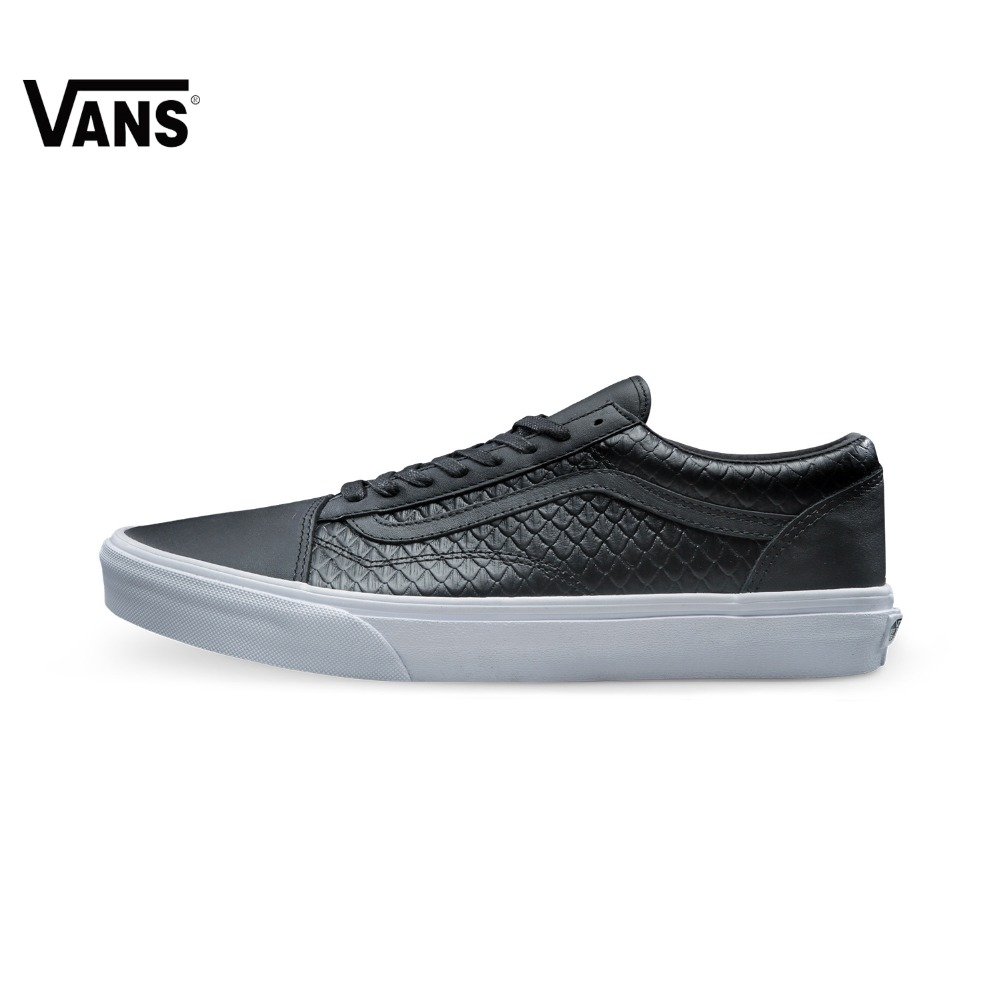Black Leather Grid Vans Sneakers Low-top Trainers Men Sports Skateboarding Shoes Breathable Classic Canvas Vans Shoes for Men