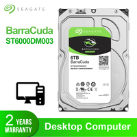 Seagate 6TB 3.5inch Desktop HDD Internal Hard Disk Drive 7200RPM SATA3 6Gb/s 256MB Cache HDD Drive Disk For Computer ST6000DM003