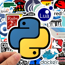 50-Pcs Developer Programming Stickers Internet Software Logo Decals for Motorcycle Skateboard Luggages Phone Ipad Laptop Sticker