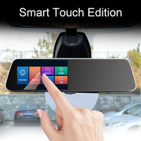 1080P HD Car Drive Recorder USB TF Card Rear View Mirror Detector Dual Camera With Night Vision Tachograph 5 Million Pixels Hot