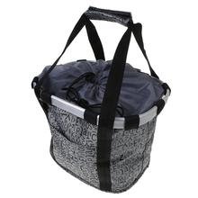 Bicycle Basket Aluminum Alloy Frame Waterproof Fabric Universal Front Carrier Multi-functional Handheld Portable Pouch Large Sto
