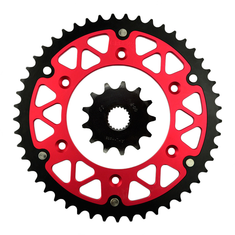 ФОТО High Performance Motorcycle 13T Front & 49T Rear Sprocket  Kit  For HONDA CRF 250 X F R CRE 125 R Enduro CR125R CRE F 250 300 R