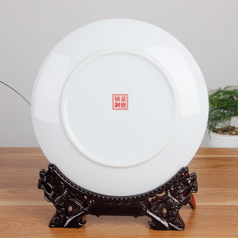 Jingdezhen-assiette décorative en porcelaine | Céramique tang-ga assiette suspendue, métope pour salon hôtel - 6