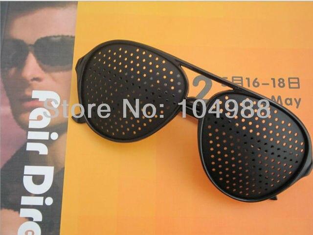 2013 Free ship Cheap Black Unisex Vision Care Pinhole Eyeglasses pinhole Glasses Eye Exercise Eyesight Improve plastic Retail