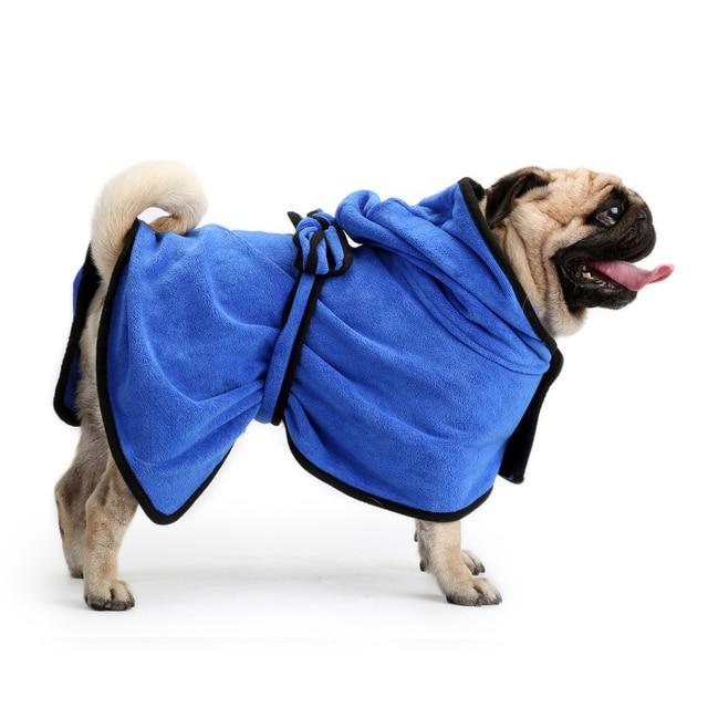 top xs xl pet bathrobe warm clothes super absorbent drying towel
