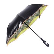 Nouveauté Articles 2016 Créative À long Manche Parapluie Pluie Femmes Marque Parapluie Double Grand Coupe-Vent Parapluies inverse parapluie 5