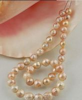 12mm Australian SOUTH SEA gold pink kasumi PEARL NECKLACE 18inch