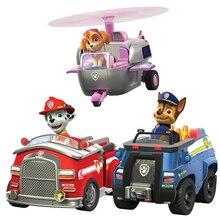 Подлинный Щенячий патруль игрушка «Щенячий патруль» фигурка модель Marshall Ryder автомобиль детские игрушки для детей