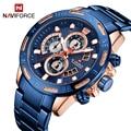 NAVIFORCE мужские часы лучший бренд модные спортивные часы мужские водонепроницаемые Роскошные Кварцевые наручные часы Мужские часы с датой ...