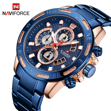 NAVIFORCE Mannen Horloges Top Brand Fashion Sport Horloge Heren Waterdichte Luxe Quartz Horloge Mannelijke Datum Klok Relogio Masculino