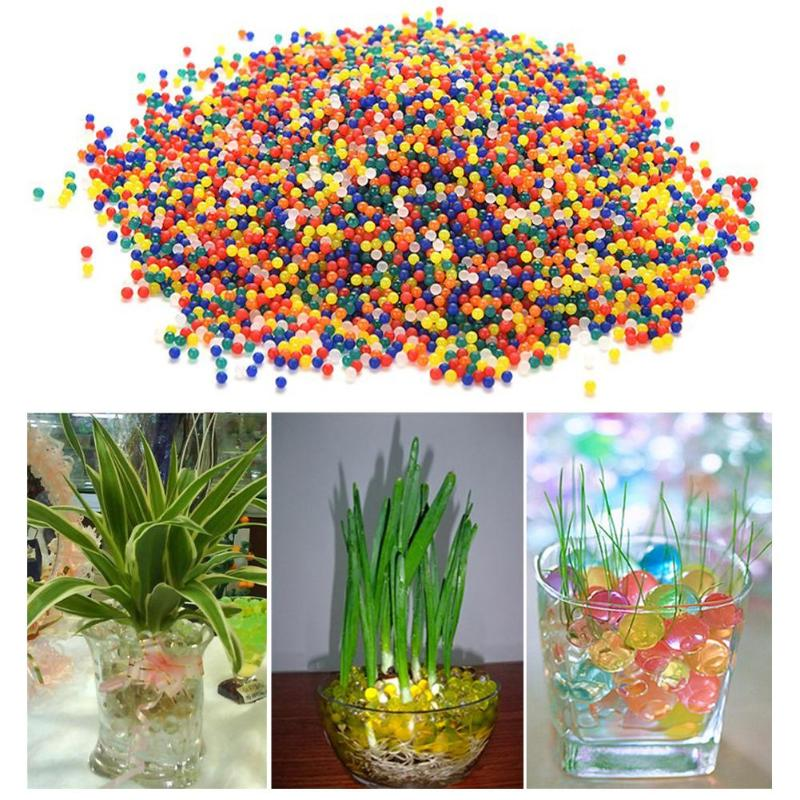 10000pcs Crystal Water Absorbing Balls Mixcolored Water Absorbing Bullets Toys Non-toxic Balls Kids Baby Outdoor Play Game Props