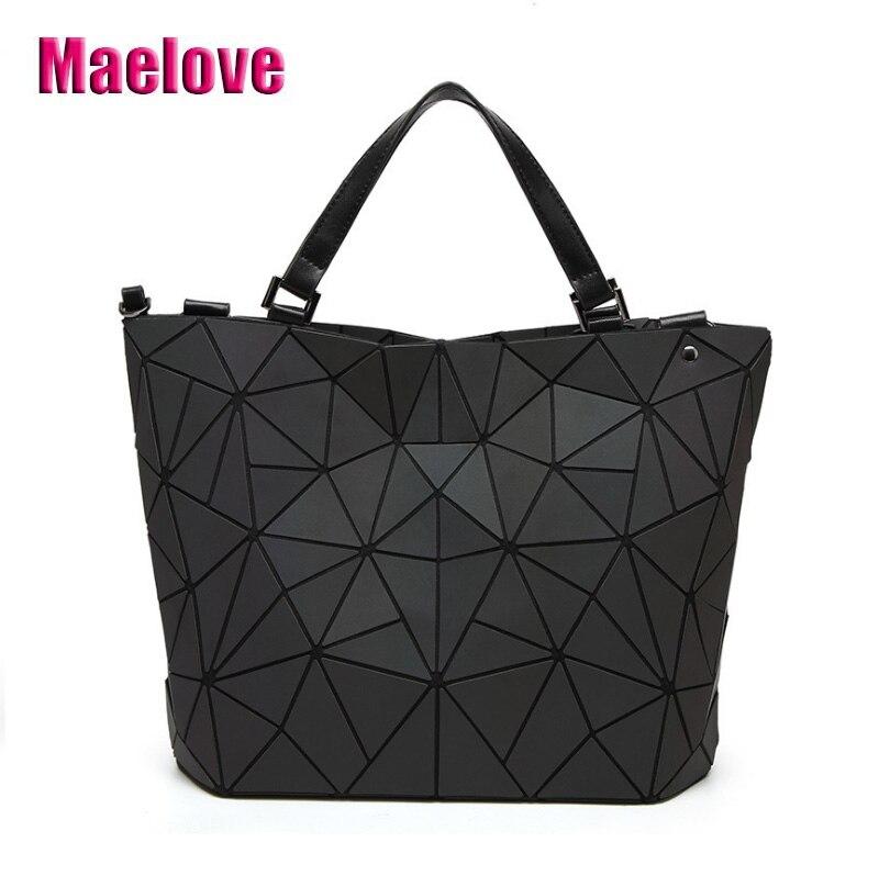 Envío de la gota luminoso bolso de las mujeres es la geometría lattic bolsas bolsa de acolchada hombro de la cadena bolsas láser simple plegable bolsos