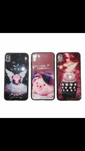 XINGDUO  case for iphone X XS MAX 2019 funny cute lovely pig PC + TPU Cartoon mobile phone shell 6 7 8 plus