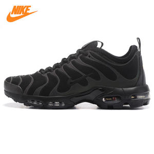 watch 48161 eb749 NIKE AIR MAX PLUS ULTRA Men s Running Shoes Black TN Wear-resistant  Shock-absorbing