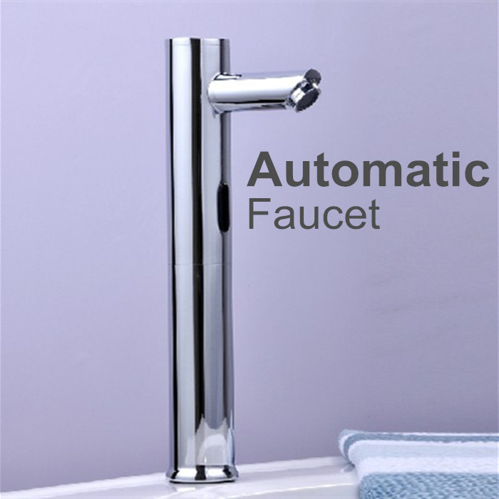 Brass Automatic Bathroom Faucets Single Cold Water Sense Faucets Basin Hand Washer DC6V/AC110~220V 100% copper cold and hot water mixer sense faucet automatic sensor faucets basin hand washer dc6v ac110 220v dona4215